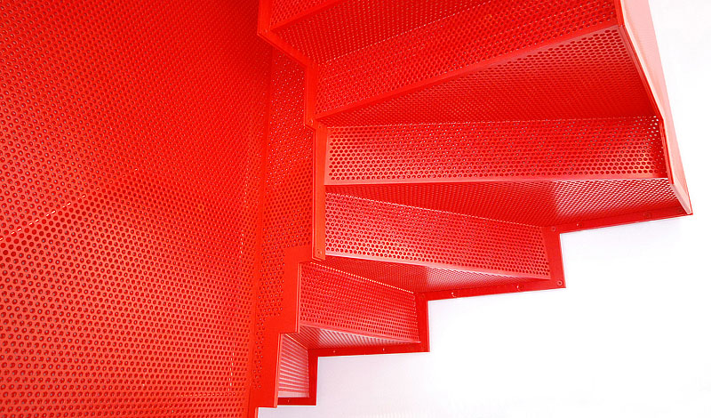 Red Stair Do Ho Suh Elvaston Place Perforated 12