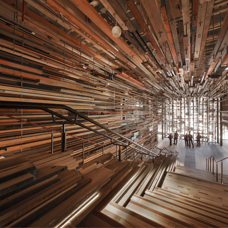 8 1 Grand staircase in the Nishi building Canberra dezeen new sq